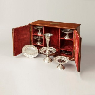 A Fine Sheffield Hall Marked Silver Table Service with Case by Frederick Elkington