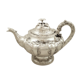 Antique Victorian Sterling Silver Teapot 1844