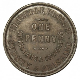 FLAVELLE BROS. & CO., AUSTRALIA, COPPER PENNY TOKEN