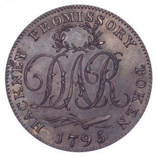 LONDON, HACKNEY, DAVID REBELLO, HALFPENNY TOKEN, 1795