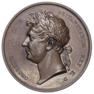 GEORGE IV. (1820-1830), VISIT TO IRELAND 1821, BRONZE MEDAL