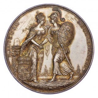 JAMES II, FLIGHT OF PRINCE JAMES, SILVER MEDAL, 1688