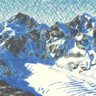 Piz Bernina and Piz Morteratsch  by  Moritz Baumann