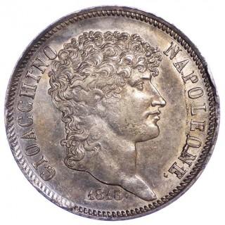 ITALY, NAPLES, 1813 FIVE LIRE