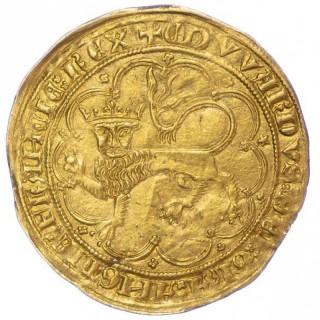 FRANCE, ANGLO-GALLIC, EDWARD III, 1357 GOLD LEOPARD