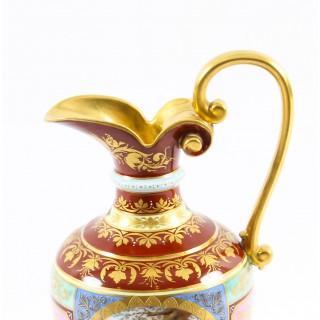 Antique Royal Vienna Porcelain Ewer Classical Figures 19th Century