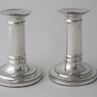 A pair of Antique Victorian Sterling silver candlesticks