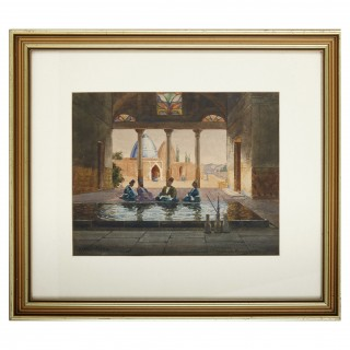 British Orientalist watercolour by Peter MacGregor Wilson
