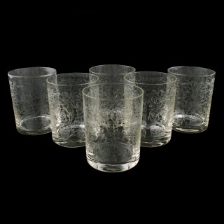 Set of Six Edwardian Tumblers