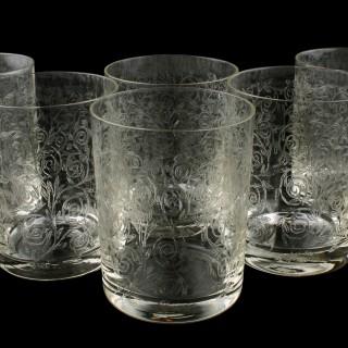 Set of Six Edwardian Tumblers