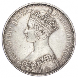 VICTORIA (1837-1901), PLAIN EDGE PROOF, GOTHIC CROWN, 1847,