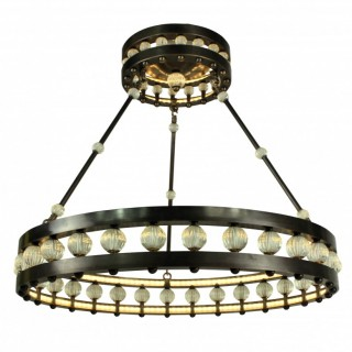 A LARGE DECO STYLE CORONA CHANDELIER