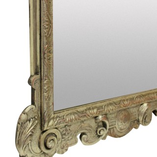 A QUEEN ANNE STYLE SILVERED MIRROR