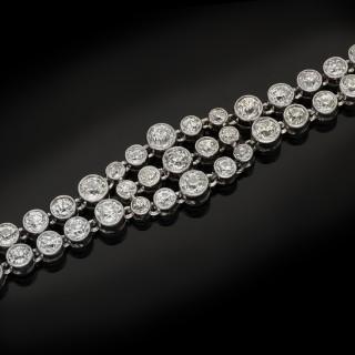 Edwardian diamond bracelet, circa 1915.