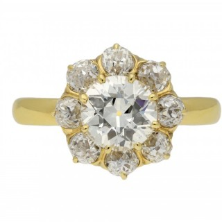 Antique diamond coronet cluster ring, circa 1910.