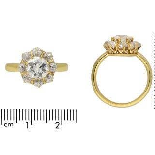 Antique diamond coronet cluster ring, circa 1910.