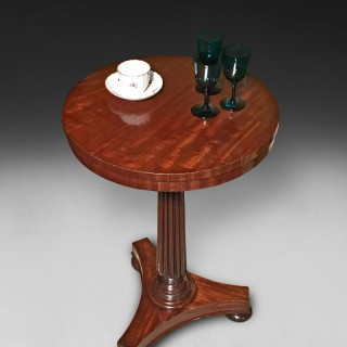 Regency Mahogany Circular Wine Table