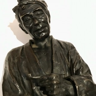 Tall Oriental Bronze Figures