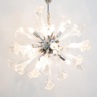Murano Flower Starburst Hanging Light