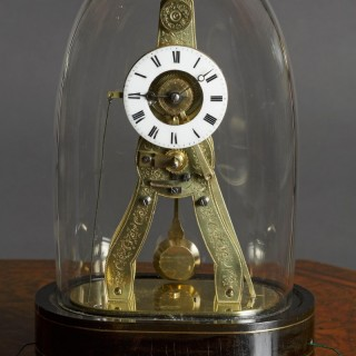 French Miniature 'Exhibition' Style Skeleton Clock