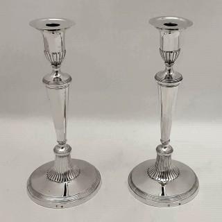 Antique German Silver Candlesticks