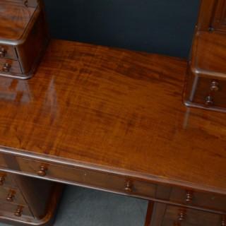 Victorian Mahogany Pedestal Dressing Table