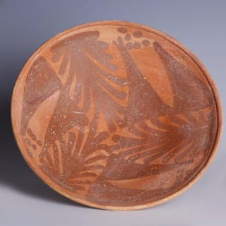 Beautiful Nabataean Egg-Shell Bowl with Foliage