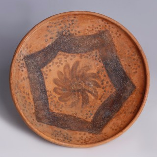 Delicate Nabataean Egg-Shell Bowl with Floral Pattern