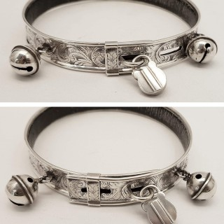 Antique Silver Dog Collar