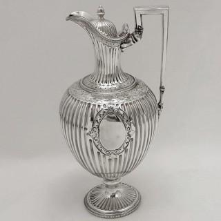 Antique Silver Wine Jug