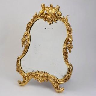 Victorian Silver Gilt Mirror