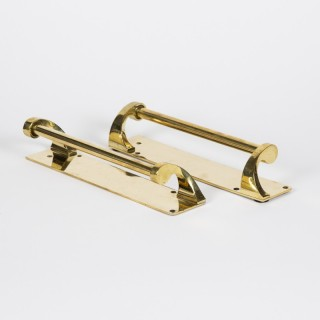 Art Deco brass door handles. Circa 1925.