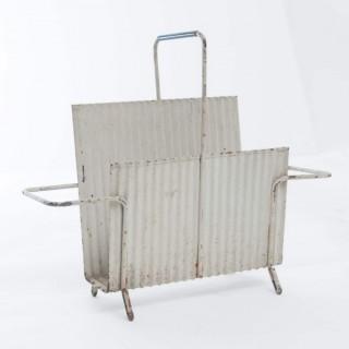 Original Java Model Portes Revues Magazine Holder In Folded Steel By Mathieu Matégot 1950s