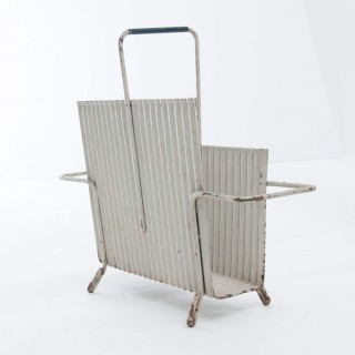 Original Java Model Portes Revues Magazine Holder In Folded Steel By Mathieu Matégot 1950s