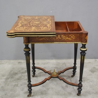 Louis XV Style French Marquetry Games / Side Table