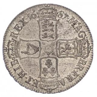 JAMES II (1685-88), 1687 CROWN, SECOND BUST, TERTIO EDGE
