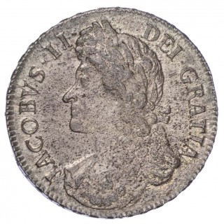 JAMES II (1685-88), 1687 CROWN, SECOND BUST, TERTIO EDGE