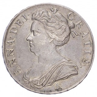 ANNE (1702-14), CROWN, 1707, E (EDINBURGH) BELOW, SEXTO EDGE
