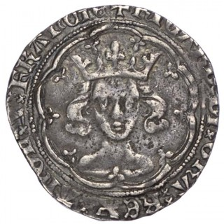 RICHARD II (1377-99), GROAT, TOWER, TYPE II