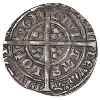 RICHARD II (1377-99), GROAT, TOWER, TYPE II