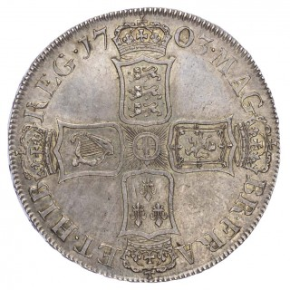 ANNE (1702-14), CROWN, 1703, 'VIGO' ISSUE
