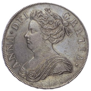 ANNE (1702-14), CROWN, 1713, ROSES & PLUMES ISSUE, DVODECIMO EDGE