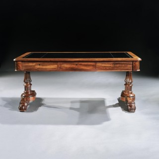 Fine Late Georgian Mahogany Gillows Partners Writing Table
