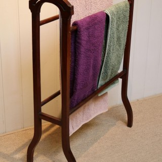 Edwardian Mahogany Towel Rail