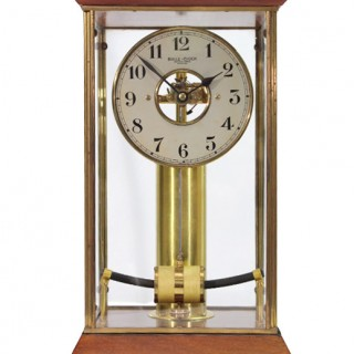 Early electric 4-glass clock by Bulle