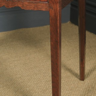 Antique English 18th Century Georgian Oak Cross Banded Occasional Side Hall Lowboy Table (Circa 1780)