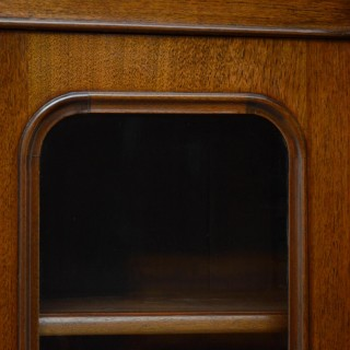 Victorian Walnut Glazed Bookcase