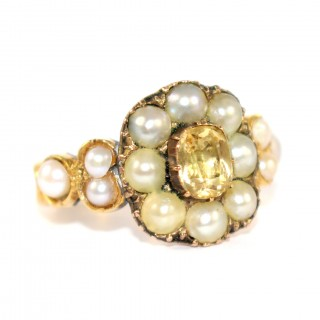 Georgian Pearl Set Rings