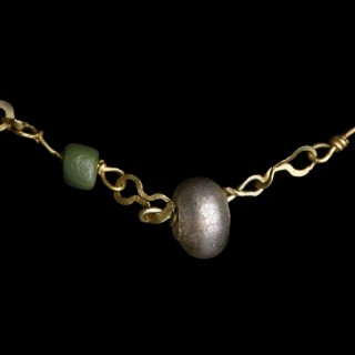Ancient Roman Woman's Necklace with Glass Beads