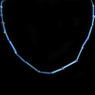 Ancient Egyptian Multicouloured Faience Necklace